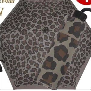 Coach Gray Leopard Umbrella NWOT